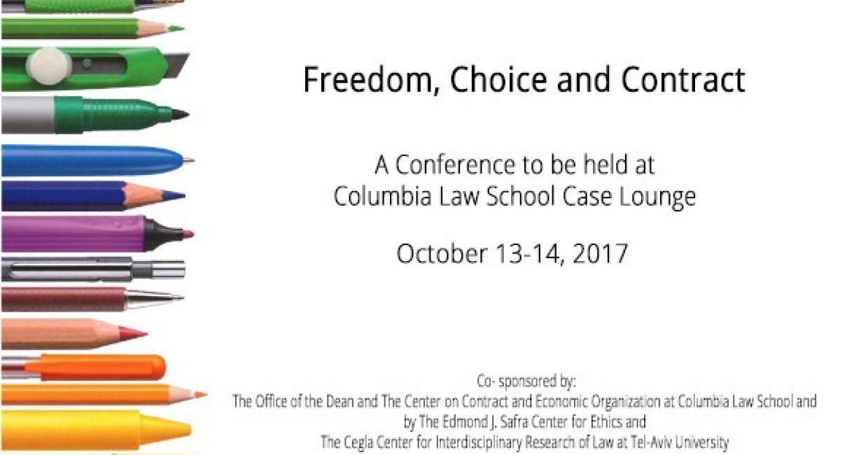 Freedom Choice And Contract The Buchmann Faculty Of Law Tel